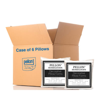 "Pellon® PPI- Decorative Microfiber Shell Pillow Form 14"" x 14"" - Case of 6 Pillows"