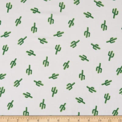 Fabtrends Rayon Soleil Arizona Cactus Off White