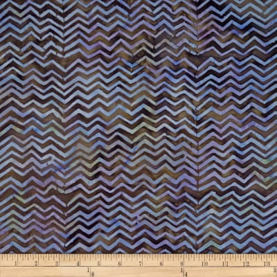 Batik by Mirah Cappuccino Chevrons Brown Rumba