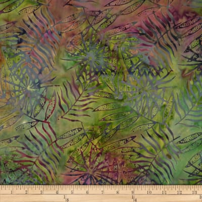 Batik by Mirah Firenze Palm Leaves Piquante Green