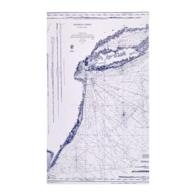 Riley Blake Nautical Chart White