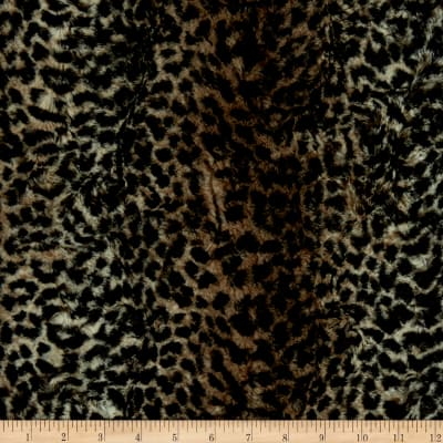 Shannon Minky Luxe Cuddle Cheetah Chocolate