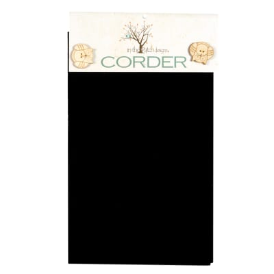 """In The Patch Designs Pre-Felted Mill-Dyed Wool Corder 9""""x50"""" Black"""