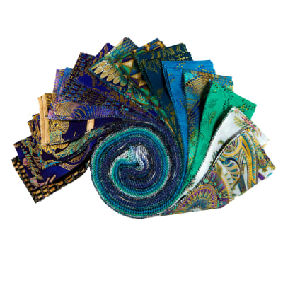 "Kaufman Treasures Of Alexandria 2.5"" Roll Ups Jewel 40pcs"