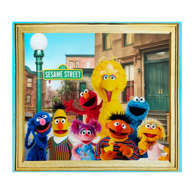 Exclusive Sesame Street Digital Characters 36 Quot Panel Multi