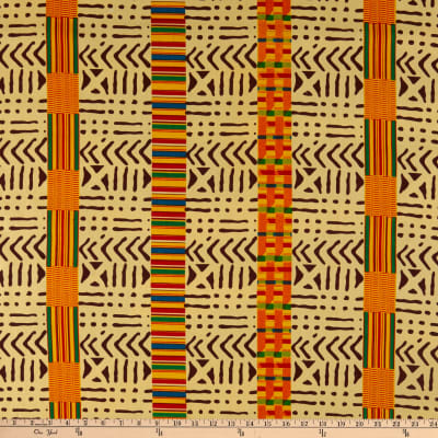 Shawn Pahwa African Print Sandile Yellow/Black