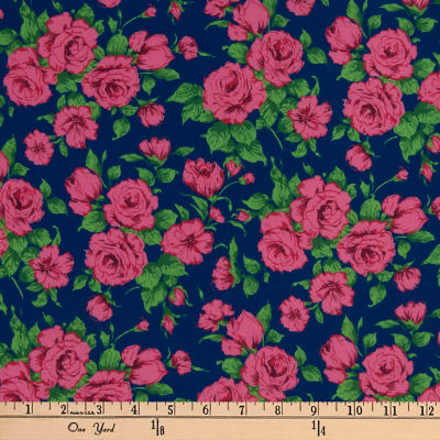 Liberty Fabrics Silk Crepe de Chine Carline Rose Pink