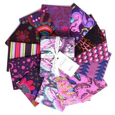 FreeSpirit Designer Purple Fat Quarter Bundle 13 Pcs