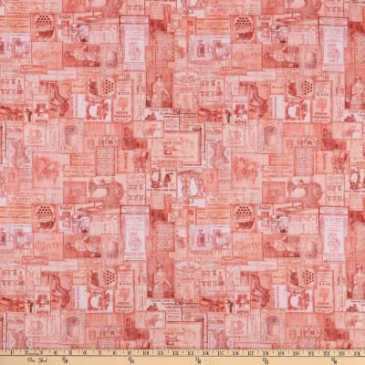 QT Fabrics Tailor Made Vintage Patches Coral