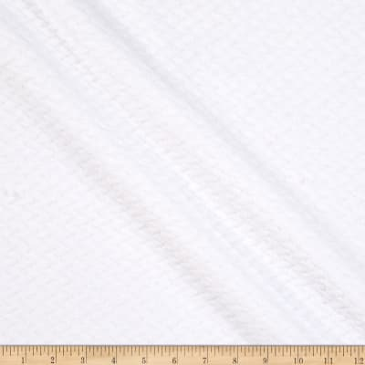 Double Sided Textured Fleece White