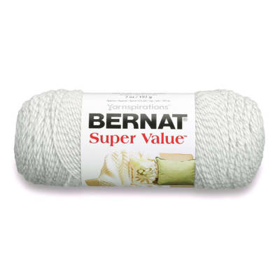 Bernat Super Value Yarn, Gray Ragg