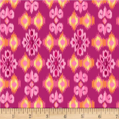 Michael Miller Boho Boutique Small Ikat Fuchsia
