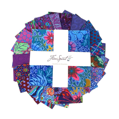 "Kaffe Fassett Collective Classics 10"" Charm Peacock 42 pc"