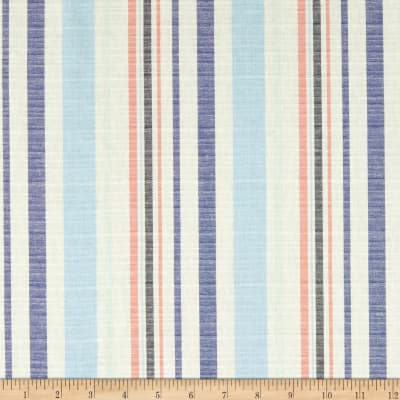 Cotton Yarndye Stripe Navy/Blue
