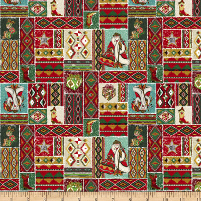 Baxter Mill Santa Fe Christmas Patchwork Multi