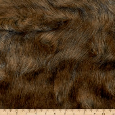 Shannon Lux Faux Fur Wild Grizzly Brown/Grey