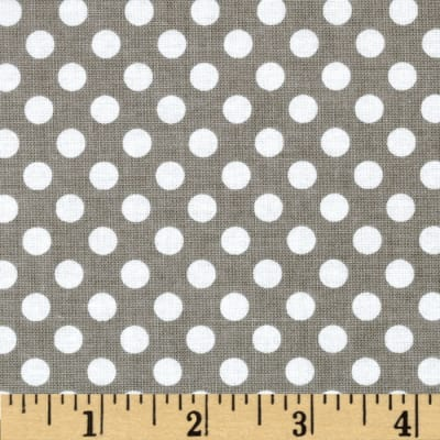 Riley Blake Dots Small Gray