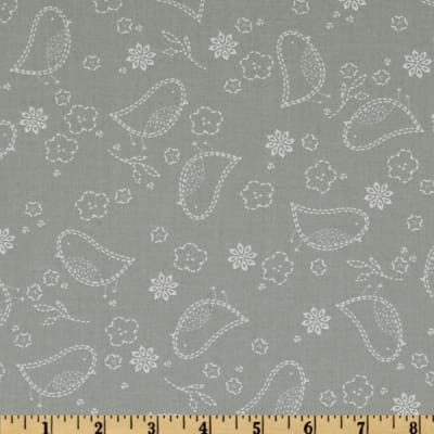 Moda Sew Stitchy Stitched Bird Needle Grey
