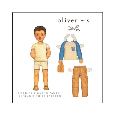 Oliver + S Field Trip Cargo Pants and Raglan T-Shirt Pattern 5-12
