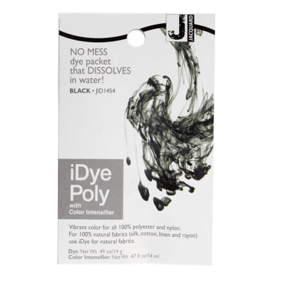 Jacquard iDye Poly Synthetic Fiber Fabric Dye Black