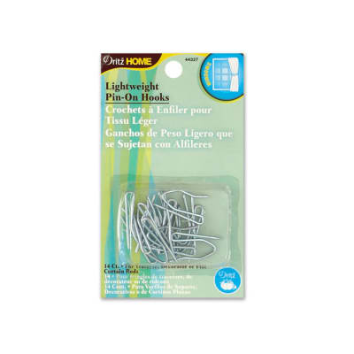 Pin-On Drapery Hooks Lightweight