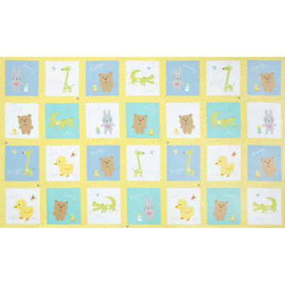 Baby Buddies Patchwork Panel Multi