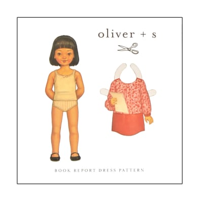 Oliver + S Book Report Dress Pattern 6m-4T