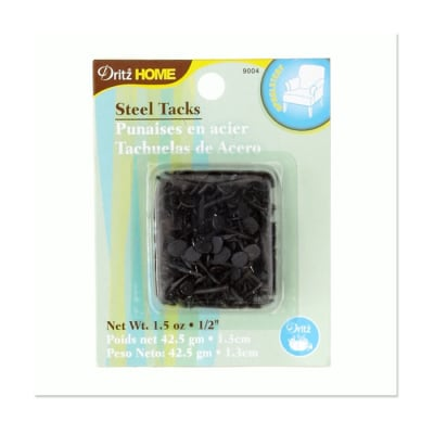 "Upholstery Steel Tacks 1/2"" 1.5 Ounce Black"