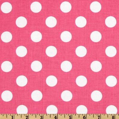 Riley Blake Dots Medium Hot Pink