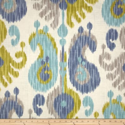 Braemore Journey Ikat Linen Blend Aquamarine