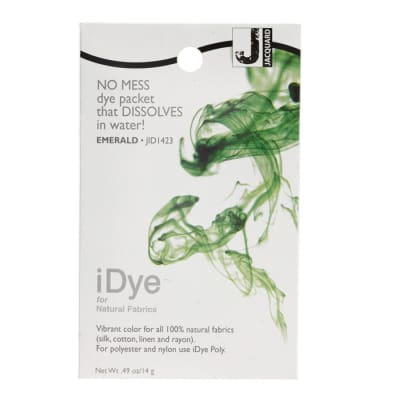 Jacquard iDye Natural Fiber Fabric Dye Emerald