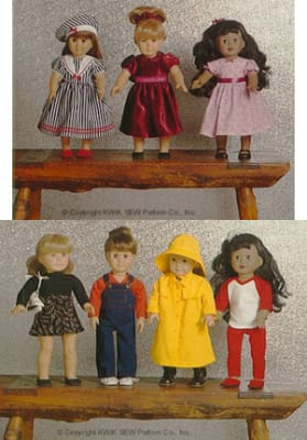 Kwik Sew Dolls Clothes Pattern