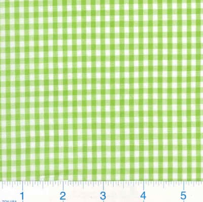 Woven 1/8 Gingham Lime Green