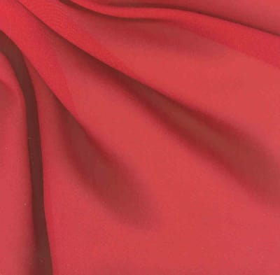 Chiffon Fabric Red