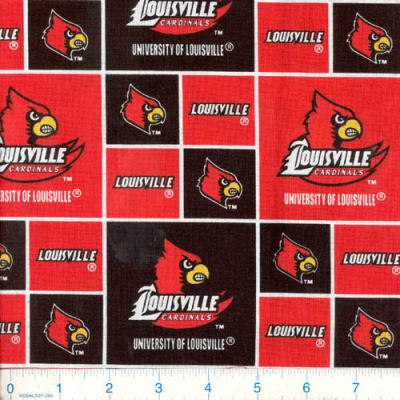 Collegiate Cotton Broadcloth University of Louisville Cardinals