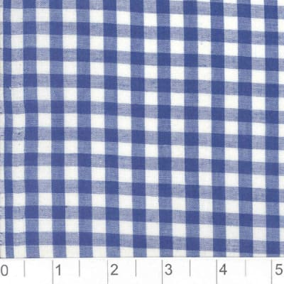 Woven 1/4 Gingham Royal Blue