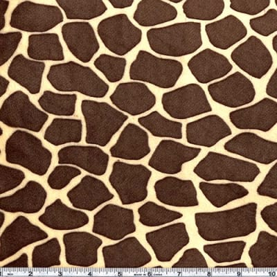 Shannon Minky Cuddle Giraffe Butter/Brown