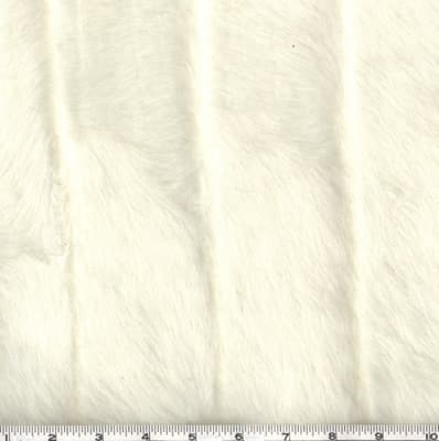 Shannon Faux Fur Grooved Mink White