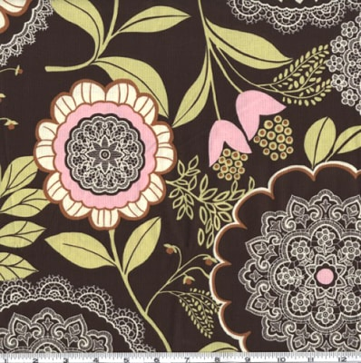 Amy Butler Lotus Lacework Olive