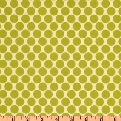 Amy Butler Lotus Full Moon Polka Dot Lime