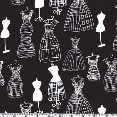 Michael Miller Dress Forms Black & White