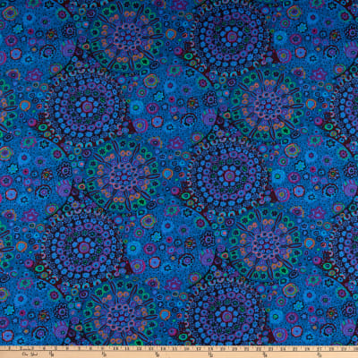 Kaffe Fassett Millefiore Cotton Fabric Blue