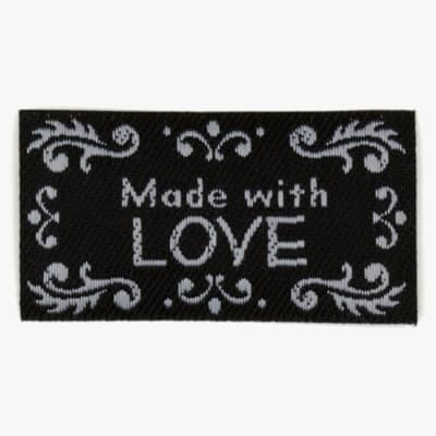 LaMode Lovelabels Made With Love-Black