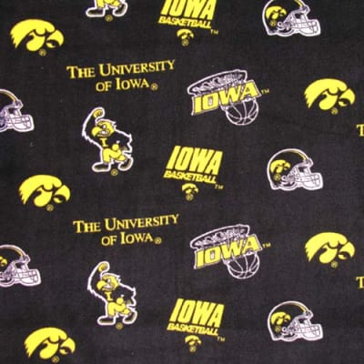 Collegiate Fleece University of Iowa Tossed Yellow/Black