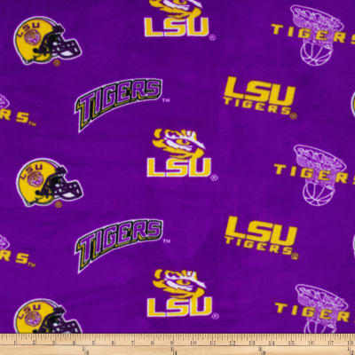 Collegiate Fleece Louisiana State University Tossed Purple/Gold