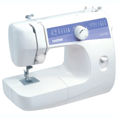 Brother LS2125I 10-Stitch Free-Arm Sewing Machine with Automatic 4-Step Buttonholer