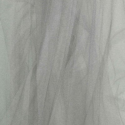 """108"""" Wide Tulle Glimmer Silver"""