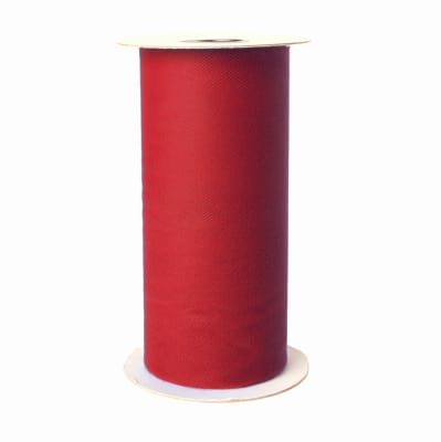 Apparel Grade Tulle Spool Red