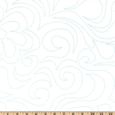 "108"" Dream Line Quilting Fabric White"