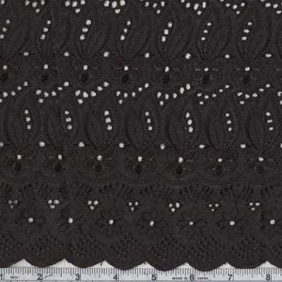 Fancy Eyelet Jet Black